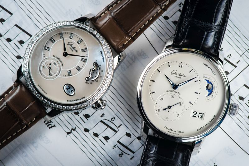 ©Glashütte Original PanoMatic Luna and PanoMaticLunar both in Stainless Steel